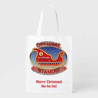 Santa's Magic Sleigh Cartoon Reusable Grocery Bag