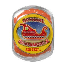 Santa's Magic Sleigh Customizable Cartoon Glass Candy Jar