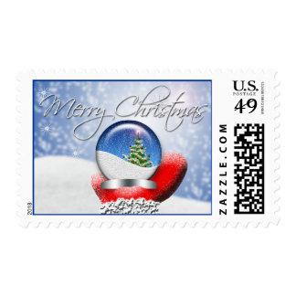 Santa's Magical Christmas Snow Globe Stamp