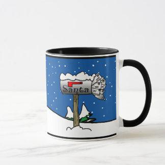 Santa's Mailbox Christmas Mug