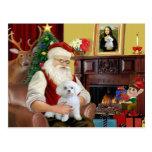 Santa's Maltese (R) Postcard