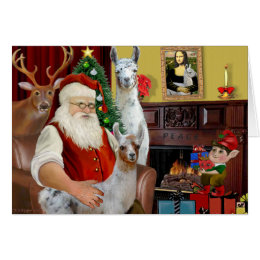 Santa's Mama Llama and Baby Card