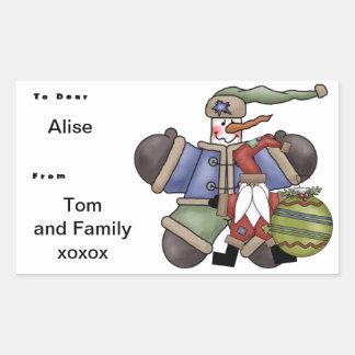 Santa's Mate Rectangular Sticker
