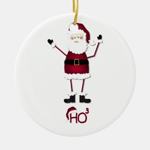 Christmas Decorations To Make In Maths : Santa s math double sided ceramic round christmas ornament