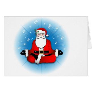 Santas Meditation Greeting Card