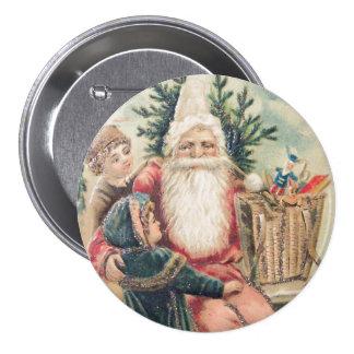 Santa's Merry Christmas Pin