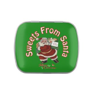 Santa's Merry Christmas Candy Tin