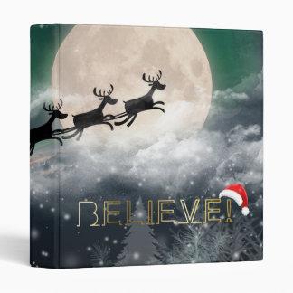 Santa's Midnight Ride Christmas Binder
