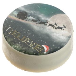 Santa's Midnight Ride Christmas Dipped Oreo Cookie