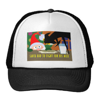 Santa's Milk Trucker Hat