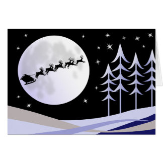 Santa's Moonlight Sleigh Ride Card