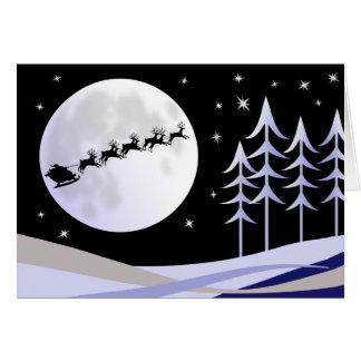 Santa's Moonlight Sleigh Ride Cards