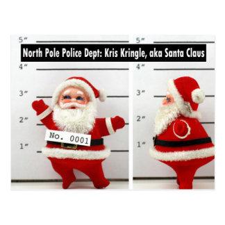 Santa's Mug Shot Postcard