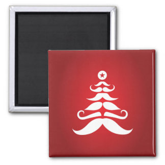 Santa's Mustache Christmas Tree Magnet