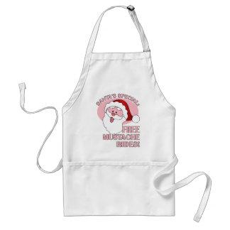 Santa's Mustache Rides apron - choose style