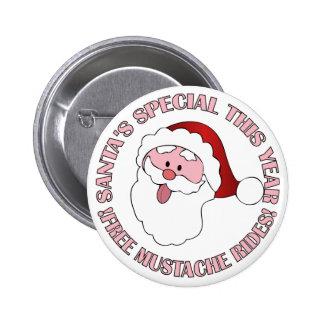 Santa's Mustache Rides button