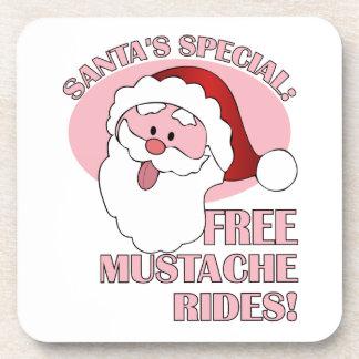 Santa's Mustache Rides coasters