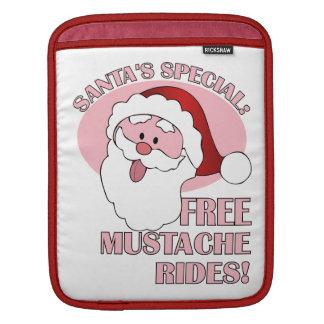 Santa's Mustache Rides iPad sleeve