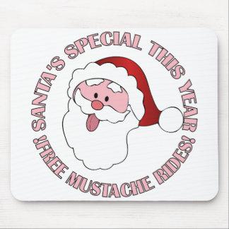 Santa's Mustache Rides mousepad