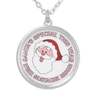 Santa's Mustache Rides necklace