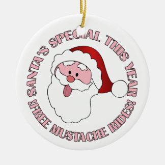 Santa's Mustache Rides ornament