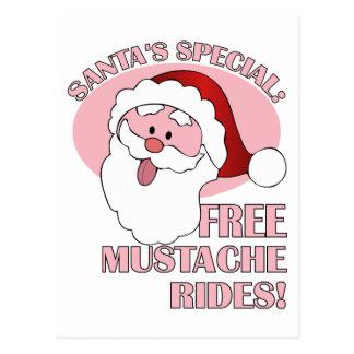 Santa's Mustache Rides postcard