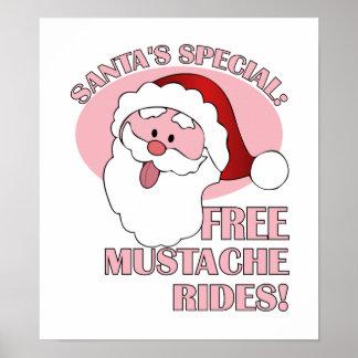 Santa's Mustache Rides poster