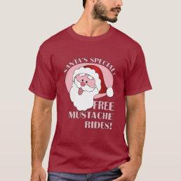 Santa's Mustache Rides shirt - choose style, color