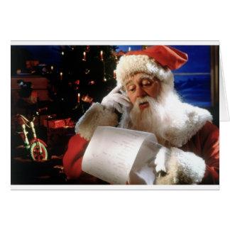 Santas Naughty and Nice List Card