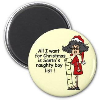 Santa's Naughty Boy List Refrigerator Magnet