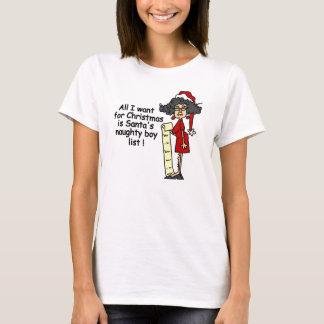 Santa's Naughty Boy List T-Shirt