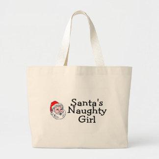 Santas Naughty Girl Jumbo Tote Bag