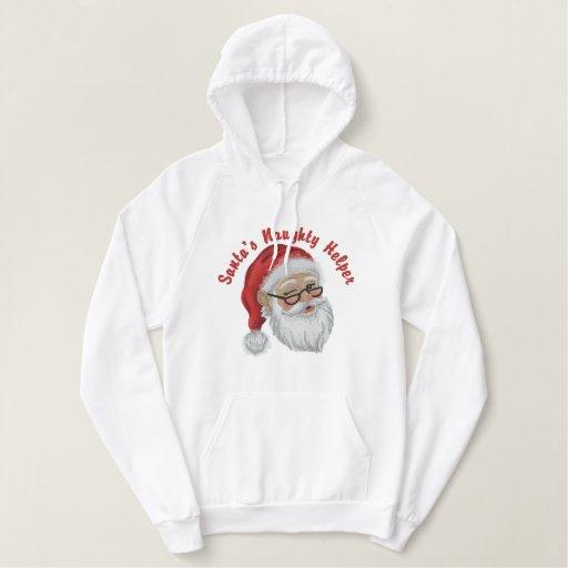 Santa's Naughty Helper Embroidered Hoodie