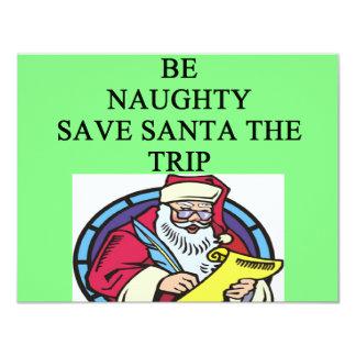 santa's naughty list 4.25x5.5 paper invitation card