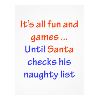 Santa's Naughty List Custom Flyer
