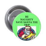 santa's naughty list pinback buttons
