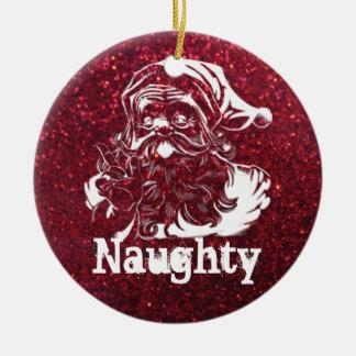 Santa's Naughty or Nice Christmas Ornament