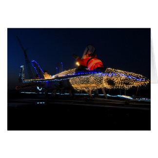 Santa's  Navy Christmas Sled Card