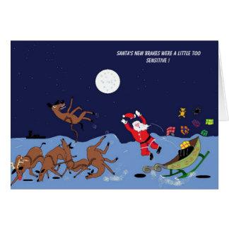 , Santa's new brakes were a littl... Card