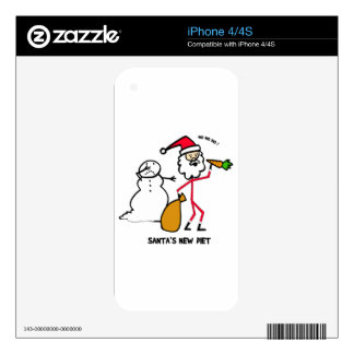 SANTA'S NEW DIET DECAL FOR iPhone 4