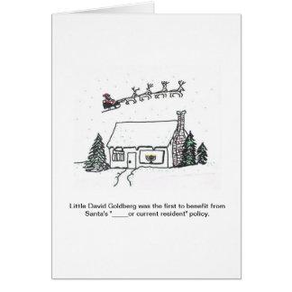 Santa's New Policy Brings Unexpected Joy Greeting Card