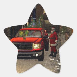 Santa's new sledge star sticker