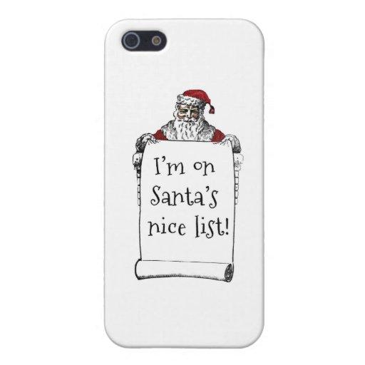 Santa's Nice List Case For iPhone 5