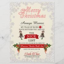 Santa's Nice List Holiday Card
