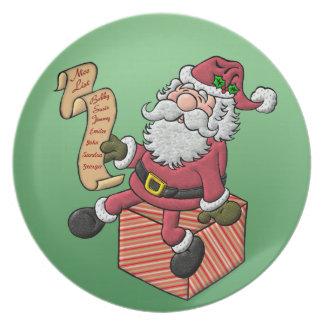 Santa's Nice List Melamine Plate