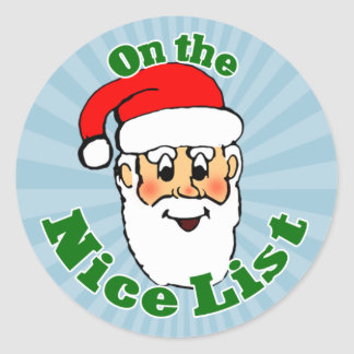 Santa's Nice List Stickers