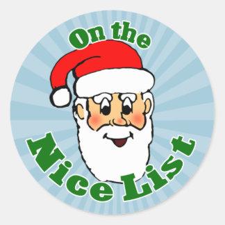 Santa's Nice List Stickers