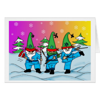 Santas Ninja Elves Card