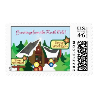 Santa's North Pole Postage Stamp stamp