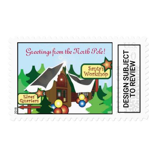 Santas North Pole Postage Stamp
